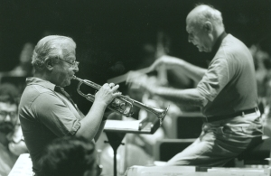 "Adolph ""Bud"" Herseth and Sir Georg rehearse Husa's Trumpet Concerto in Perth"