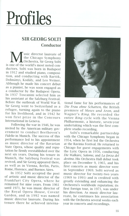 Solti 2: Shostakovich's Symphony no  15 and a 999th appearance