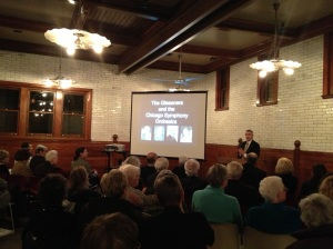 Bill's presentation at Glessner House