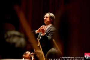 Maestro Muti leading the CSO during the 2012 California tour (photo by Todd Rosenberg)