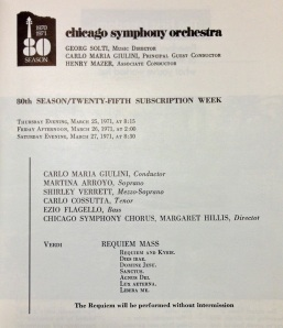 Orchestra Hall, March 1971 - Carlo Maria Giulini conducting