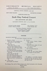Hill Auditorium in Ann Arbor, May 1930 - Moore conducting