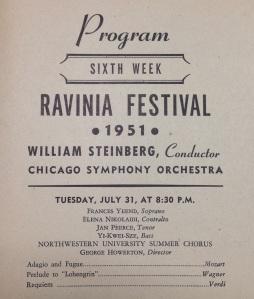 Ravinia Festival, July 1951 - William Steinberg conducting