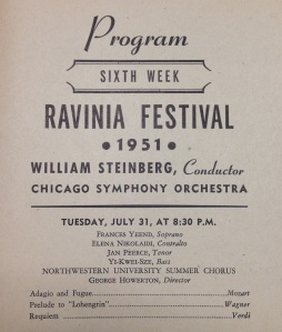 Ravinia Festival, July 1951 - William Steinberg conducting