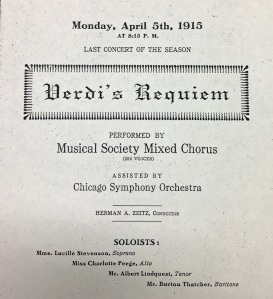 Pabst Theatre, April 1951 - Herman A. Zeitz conducting