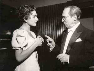 Maria Callas with Antonino Votto