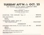 October 25, 1960 - original program advertisement
