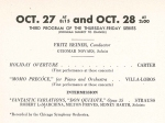 October 27 & 28, 1960 - original program advertisement