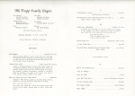 Program for the Trapp Family Singers' December 13, 1947, concert at Orchestra Hall
