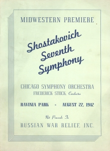 Program book for the August 22, 1942, performance at the Ravinia Festival