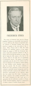 Frederick Stock's program book biography for the August 22, 1942, concert
