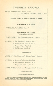 April 1 and 2, 1904, program page