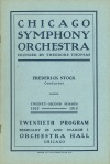 First program book cover with the Chicago Symphony Orchestra name, February 1913