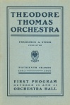 First program book with the Theodore Thomas Orchestra name, from the beginning of the 1905-06 season
