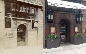 The entrance to the Neep bar(ca. 1905) and the tesori