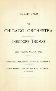 December 16 & 17, 1892, program book cover