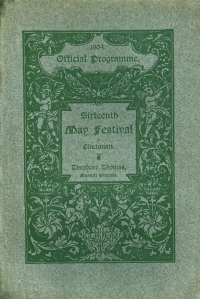 Cover of the 1904 Cincinnati May Festival program book