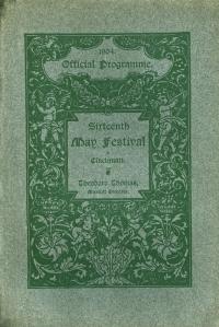 Cover of the 1904 Cincinnati May Festival program book
