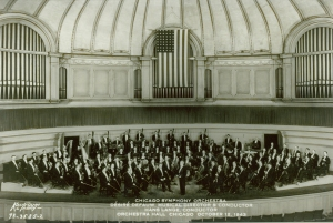 During the U.S. involvement in World War II (1941–1945), the forty-eight-star flag was a permanent fixture on the Orchestra Hall stage.