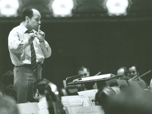 Pierre Boulez in rehearsal at Orchestra Hall in February 1969