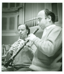Ray Still and Richard Kanter onstage at Orchestra Hall in the 1970s