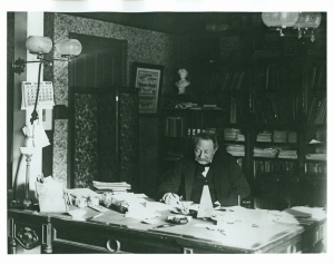 Thomas at his desk