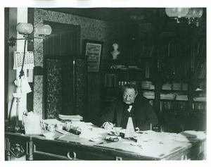Thomas at his desk