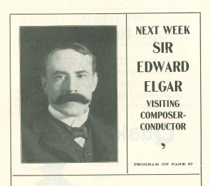 Advance advertisement for Elgar's April 1907 conducting appearances