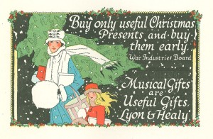 Lyon & Healy holiday advertisement 1918