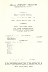 The Chicago Symphony Chorus's formal debut on March 13 and 14, 1958