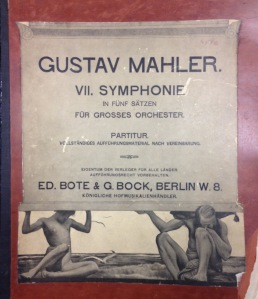 Cover of one of two first edition Symphony no. 7 scores in the Rosenthal Archives collection