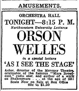 Welles announcement