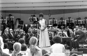 Margaret Harris and the Orchestra in Maywood on July 26, 1971 (Robert M. Lightfoot III photo)