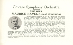 Maurice Ravel program bio