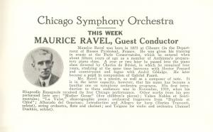 Maurice Ravel program bio
