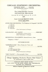 Maurice Ravel program page