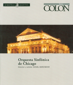 October 10, 11, and 12, at the Teatro Colón in Buenos Aires, Argentina,