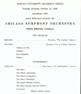 October 14, 1958, Symphony Hall in Boston