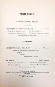 Cincinnati May Festival, May 26, 1892