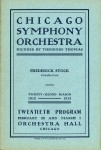 Chicago Symphony Orchestra, February 28 and March 1, 1913