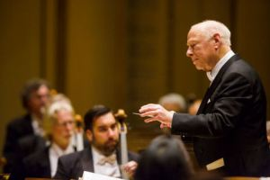 Bernard Haitink leads the Chicago Symphony in Orchestra Hall on October 31, 2013 (Todd Rosenberg photo)