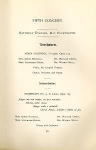 Cincinnati May Festival, May 14, 1904