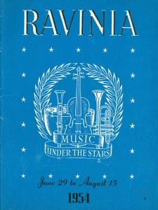 Ravinia Festival program book cover for June 29 through August 15, 1954