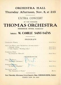 Program page for the added extra concert on November 8, 1906