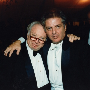 Isaac Stern and music director designate Daniel Barenboim after the Centennial Gala concert on October 6, 1990
