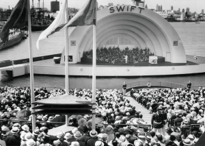 Swift Bridge of Service  bandshell, date  (Chicago Tribune archive photo)