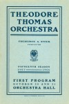 Theodore Thomas Orchestra, October 20 and 21, 1905