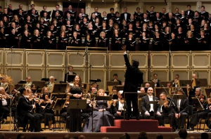 "Barbara Frittoli sings the final ""Libera me"" with Riccardo Muti leading the Orchestra and Chorus on January 16, 2009 (Todd Rosenberg photo)"