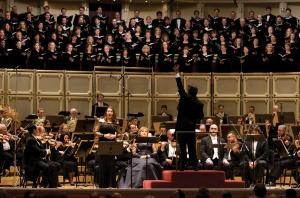 "Barbara Frittoli sings the final ""Libera me"" with Riccardo Muti leading the Orchestra and Chorus on January 16, 2009 (Todd Rosenberg photo)"