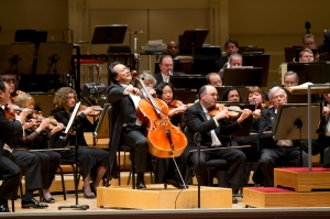 Yo-Yo Ma performing Schumann's Cello Concerto with Riccardo Muti and the Orchestra on May 14, 2011 (Todd Rosenberg photo)